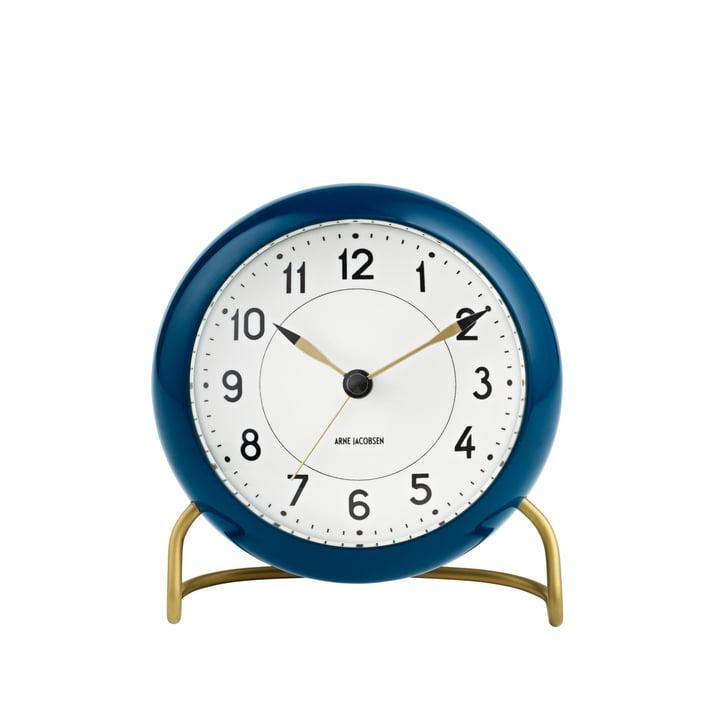 AJ Station alarm clock in navy blue / white by Rosendahl