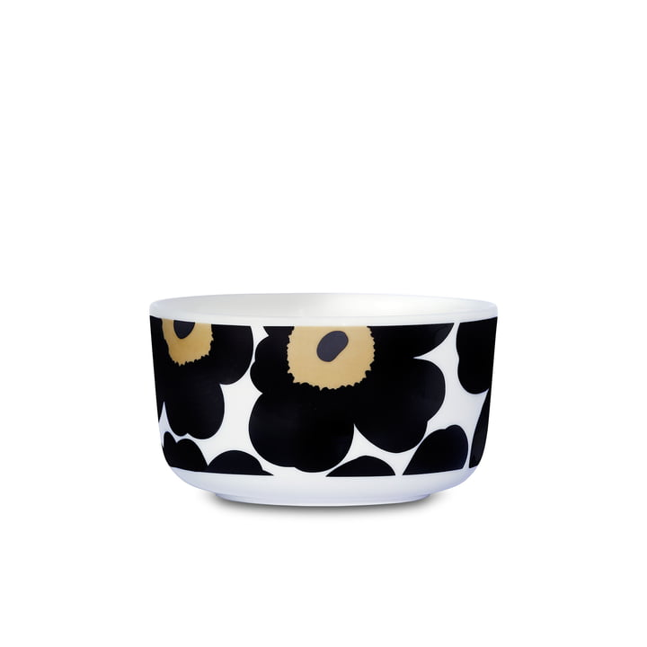 Oiva Unikko Bowl by Marimekko in white and black