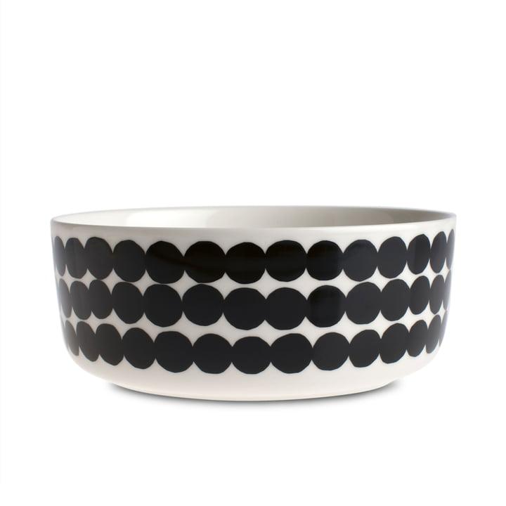 Oiva Räsymatto bowl 1500 ml from Marimekko in white / black