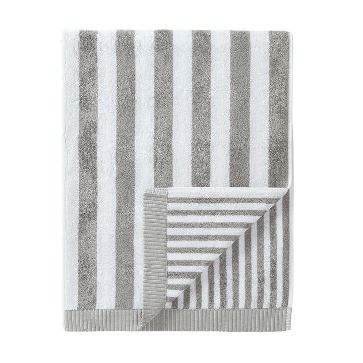 Marimekko - Kaksi Raitaa Bath Towel, grey/ white 75 x 150 cm