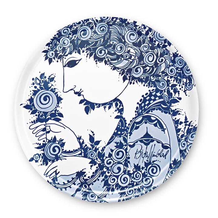 Bjørn Wiinblad - Tray Rosamunde, blue