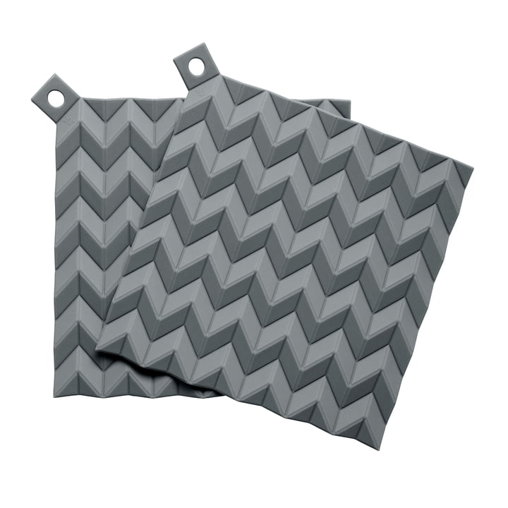 Rig-Tig by Stelton - Hold-On Potholders (set of 2), grey