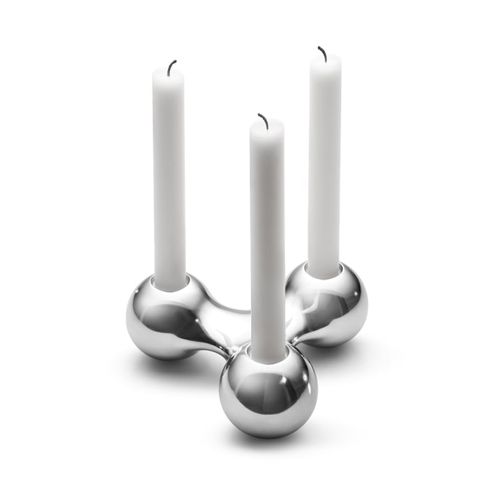 Three-space candleholder by Arne Jacobsen