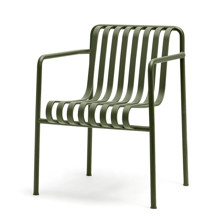 The Palissade dining armchair by Hay in olive