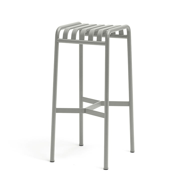 the Palissade barstool by Hay in light grey
