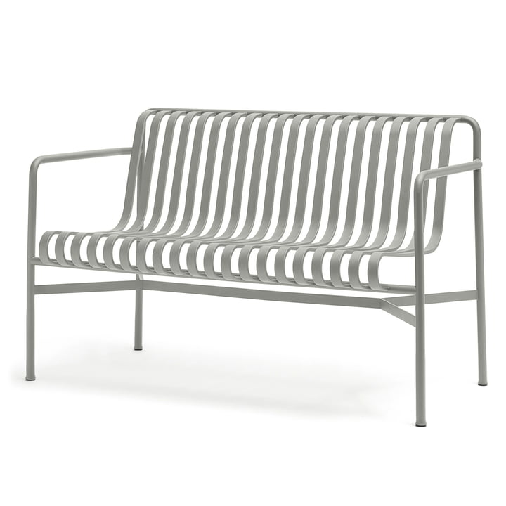 The Palissade Dining Bench one Hay in light grey