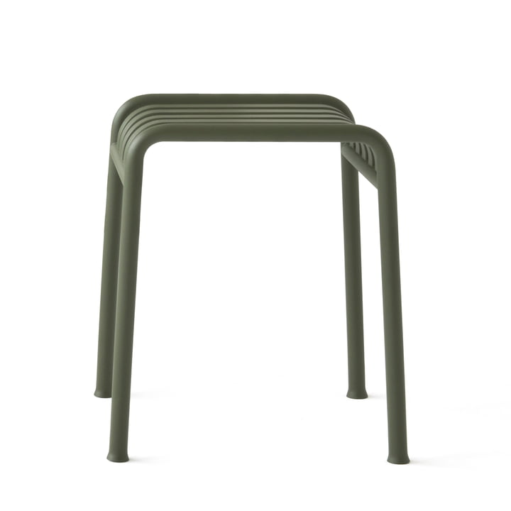 The Palissade stool by Hay in olive