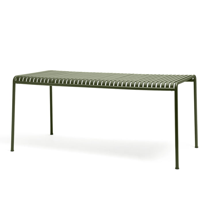 The Palissade Table by Hay in Olive, Measuring 160 x 80 cm