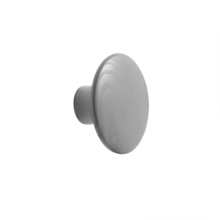 "Wall hook ""The Dots"" single small by Muuto in dark grey"
