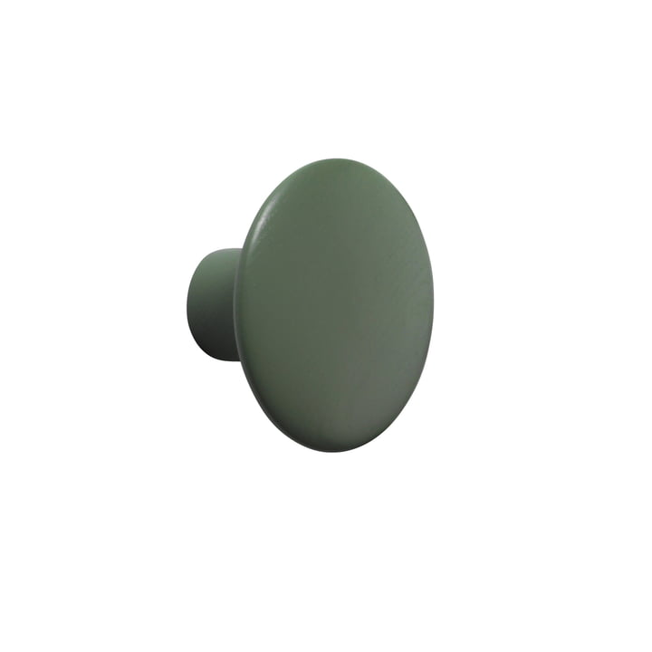 "Muuto - Wall Hooks ""The Dots"" single, dusty green, small"