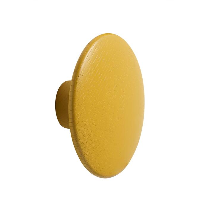 """Wall hook """"The Dots"""" single medium by Muuto in mustard"""