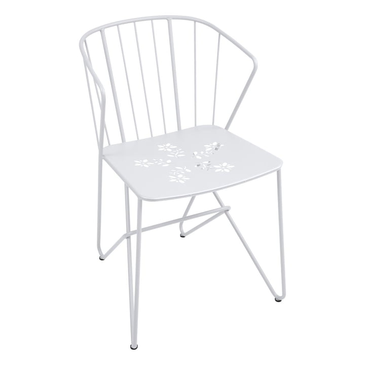 Fermob - Flower Armchair with Pattern, cotton white