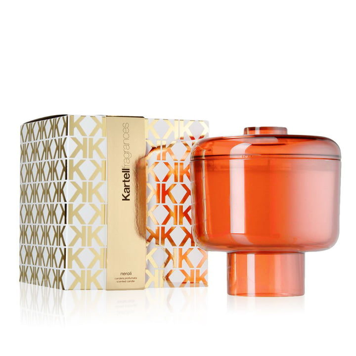 Scented candle Nikko by Kartell in orange with the fragrance Neroli