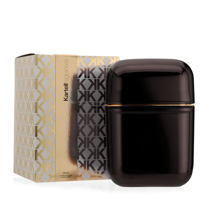 Scented candle Oyster by Kartell in smoke grey with the fragrance Drops
