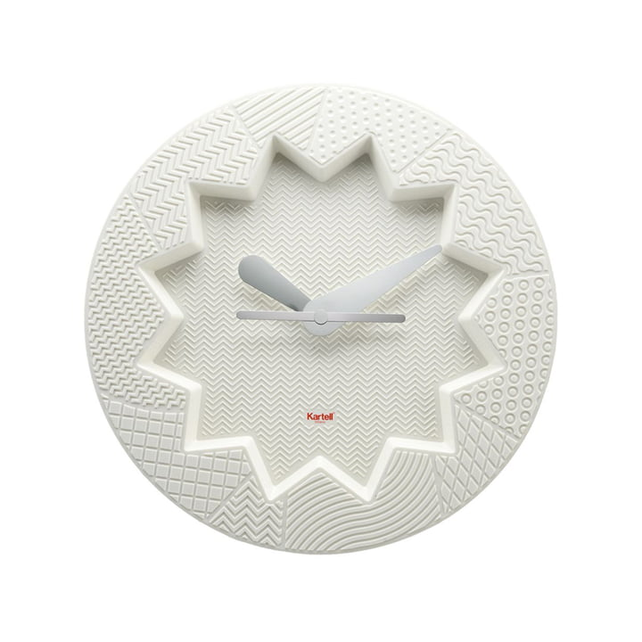 Crystal Palace wall clock by Kartell in white