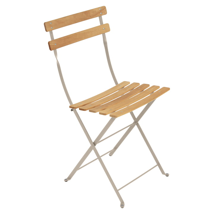 Bistro Natural Folding Chair by Fermob in nutmeg
