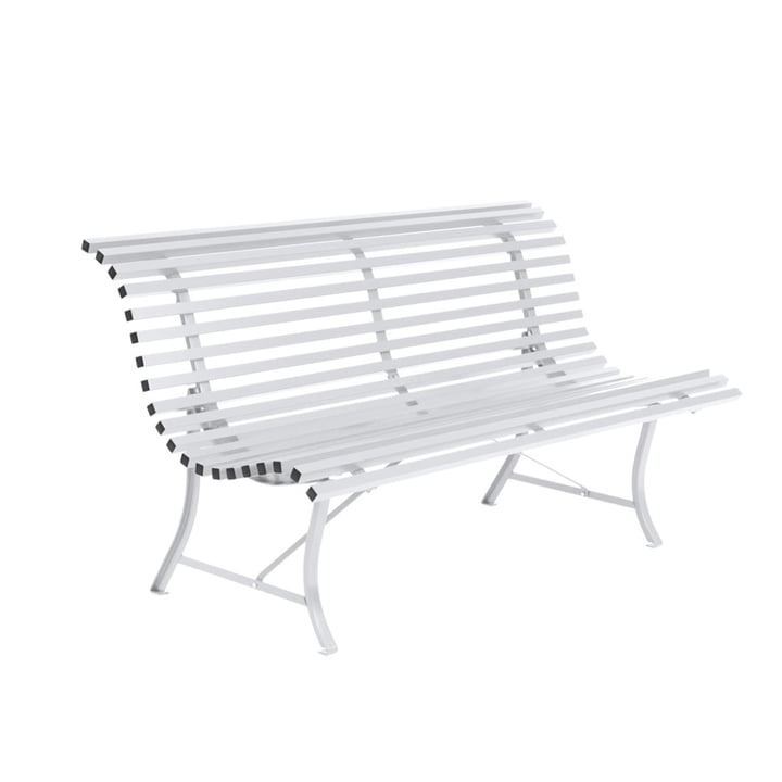 Louisiane bench 150 cm in cotton white by Fermob