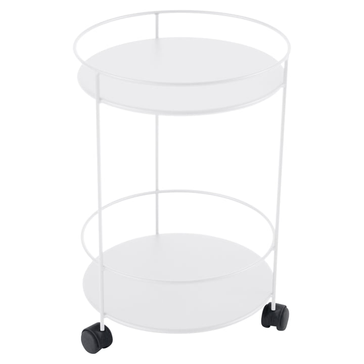 Guéridons Side Trolley on wheels by Fermob in cotton white