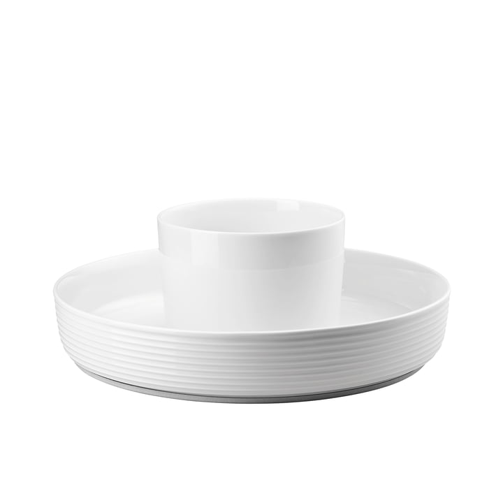 The Ono Food Presenter by Thomas in white with a diameter of 33.5cm