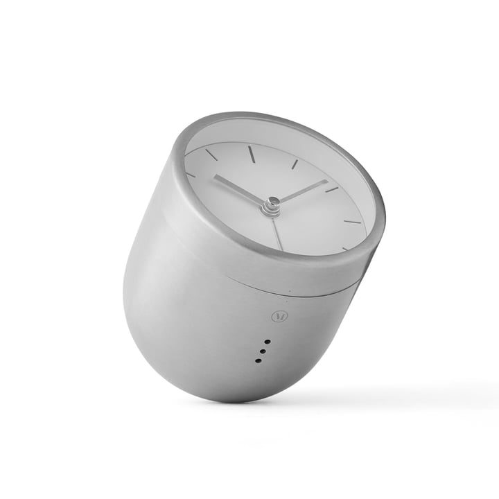 Menu - Norm Tumbler Alarm Clock, brushed stainless steel