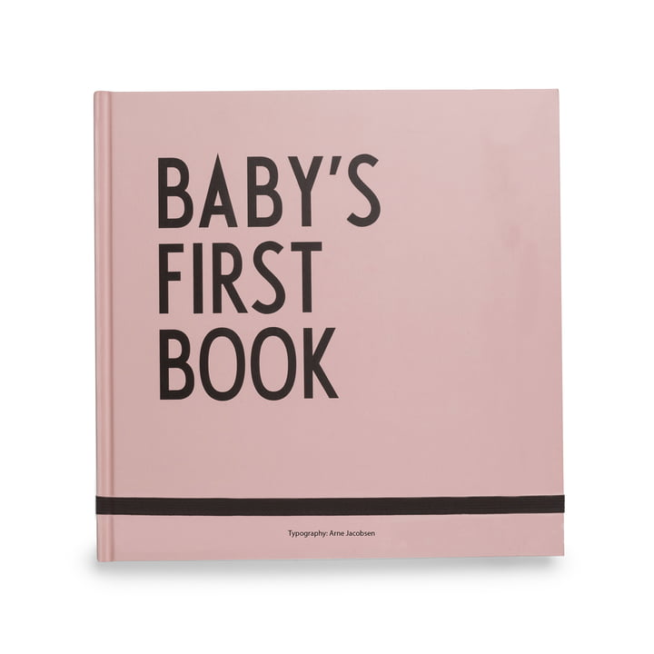 Baby's First Book by Design Letters in Pink