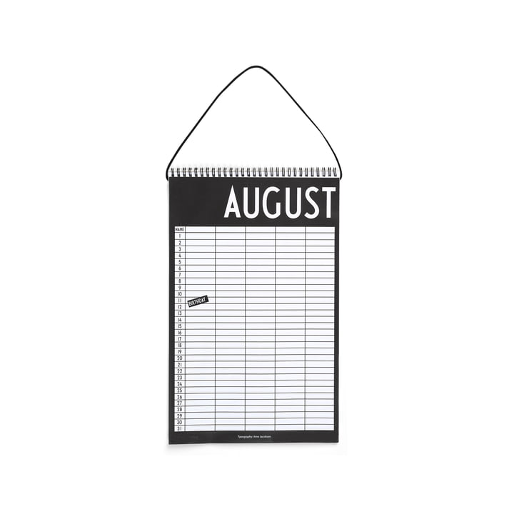 Monthly Planner by Design Letters