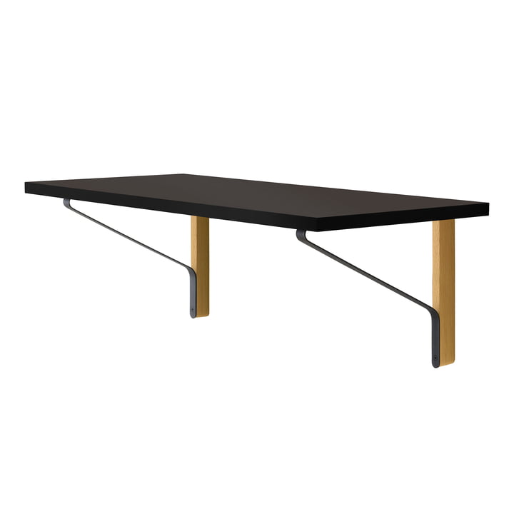 REB 006 Kaari Console 100 x 45 cm by Artek in black natural oak