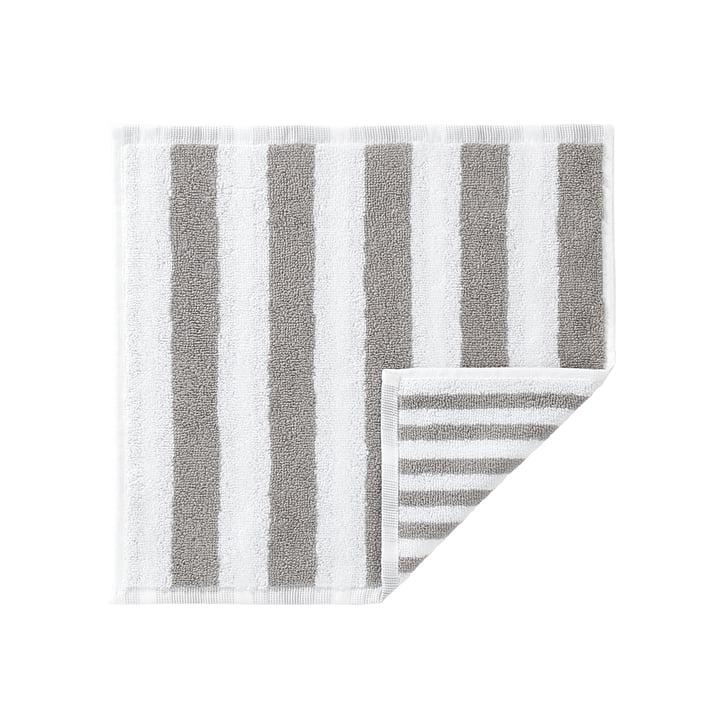 Marimekko - Kaksi Raitaa Mini towel 30 x 30 cm, grey / white