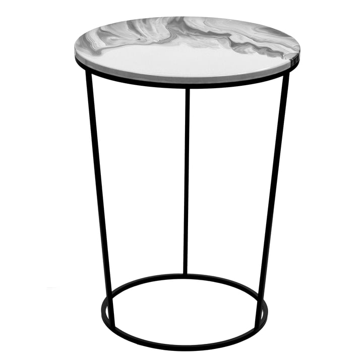 Chiara Side Table High by Pulpo in white and black
