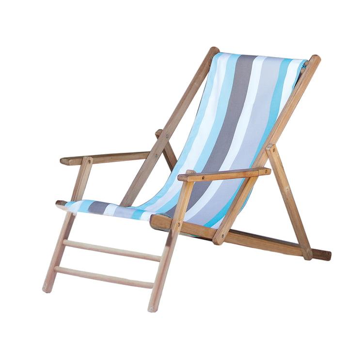 Jan Kurtz - Deckchair teak, upholstery Designers Guild stripes Tarifa