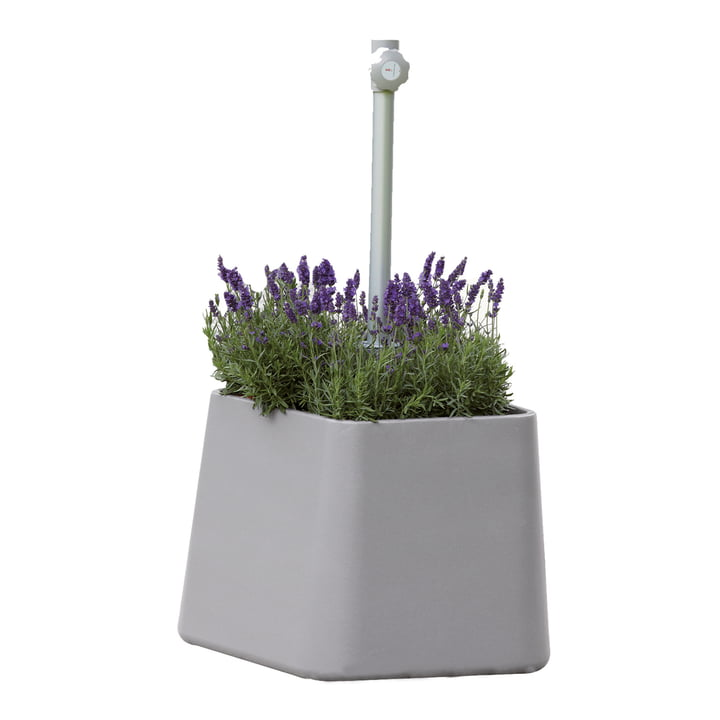 Fill Up Parasol Stand by Jan Kurtz in light grey