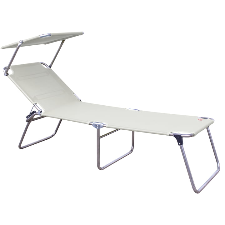 Fiam - Amigo Fourty-Sun three-legged lounger with sunshade, white