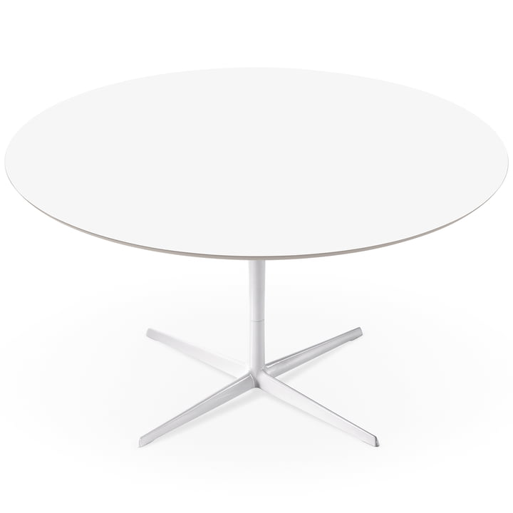 Arper - Eolo table, LM1 Ø 120cm with laminate surface, H 74cm