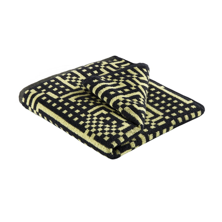 Zuzunaga - Route Black and Yellow Towel, 50 × 100cm