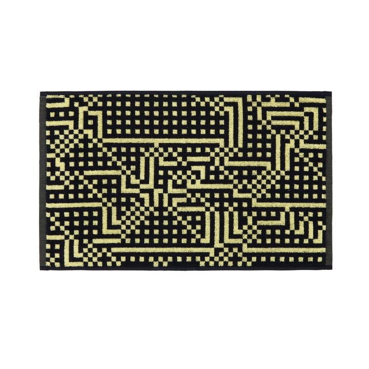 Zuzunaga - Route Black and Yellow Guest Towel, 33 × 50 cm