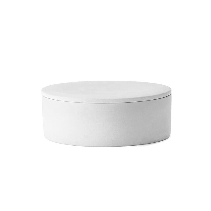 The Cylindrical Container with Lid by Menu in white
