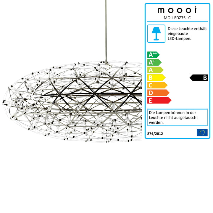 Raimond Zafu Suspension Lamp by Moooi
