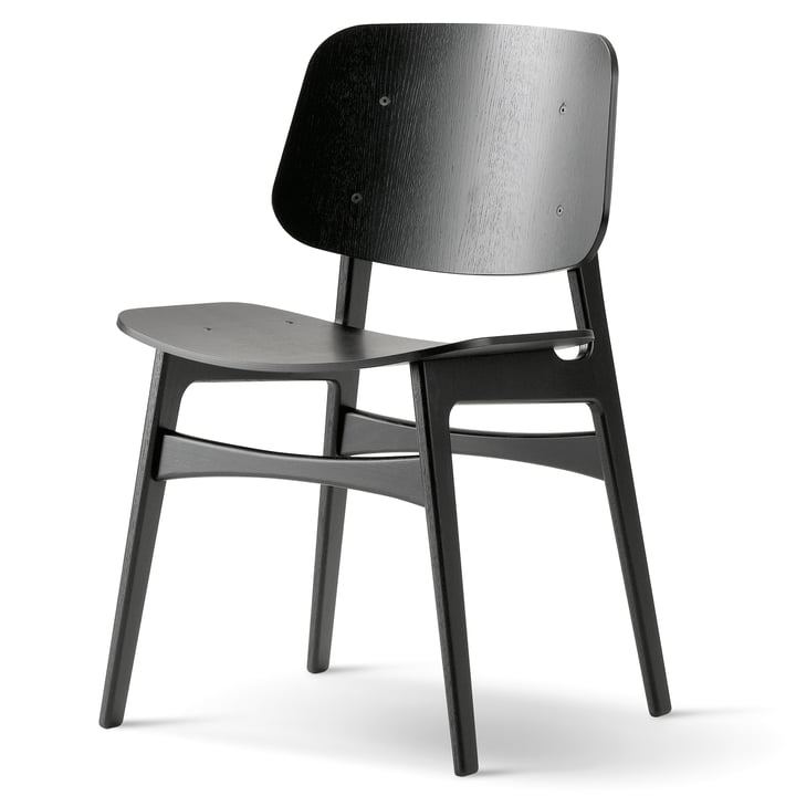 Søborg Chair by Fredericia made of black lacquered oak