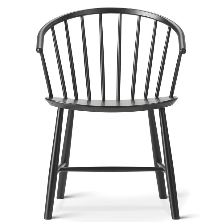 J64 chair by Fredericia in ash black stained