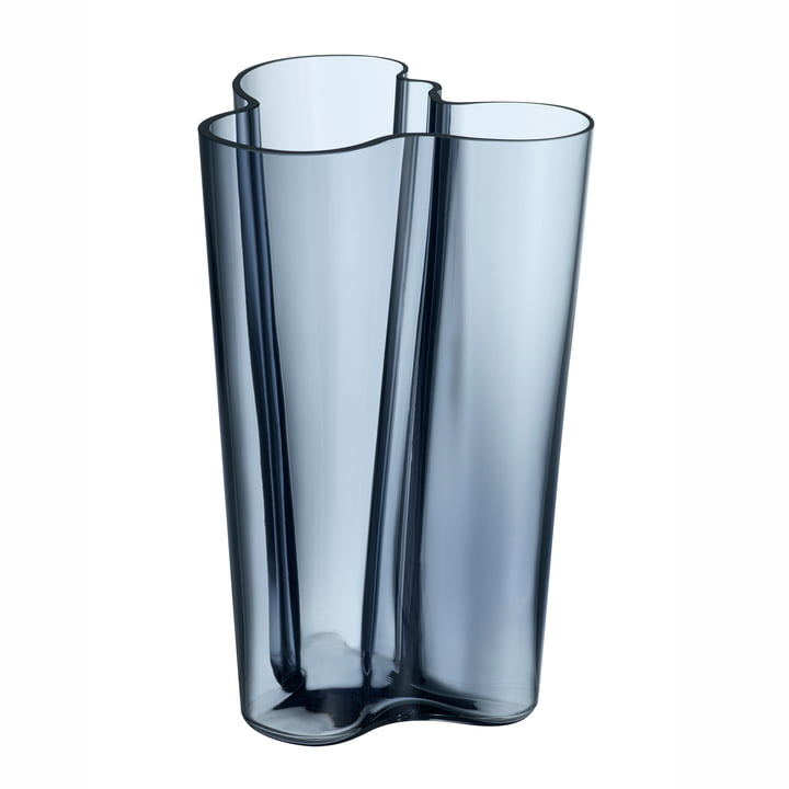 Aalto Finlandia Vase 251 mm by Iittala in Rain Blue