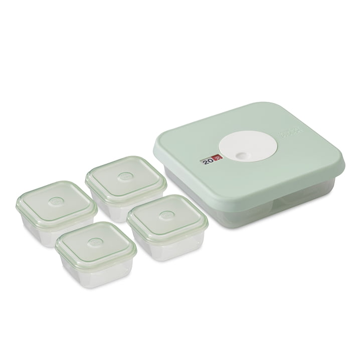 Set of 5 Dial Baby Food Container size 2 (8-12 months) by Joseph Joseph