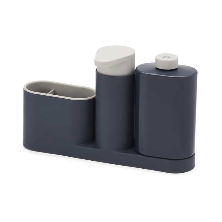 3-piece SinkBase Plus Sink Cleaning Set by Joseph Joseph in Grey