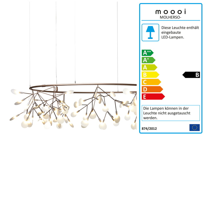 Heracleum Small Big O Pendant Lamp by Moooi in copper