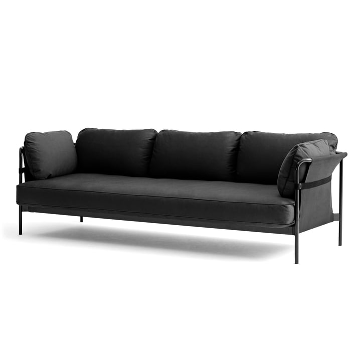 Can sofa, 3-seater in grey / Canvas grey / Canvas grey by Hay