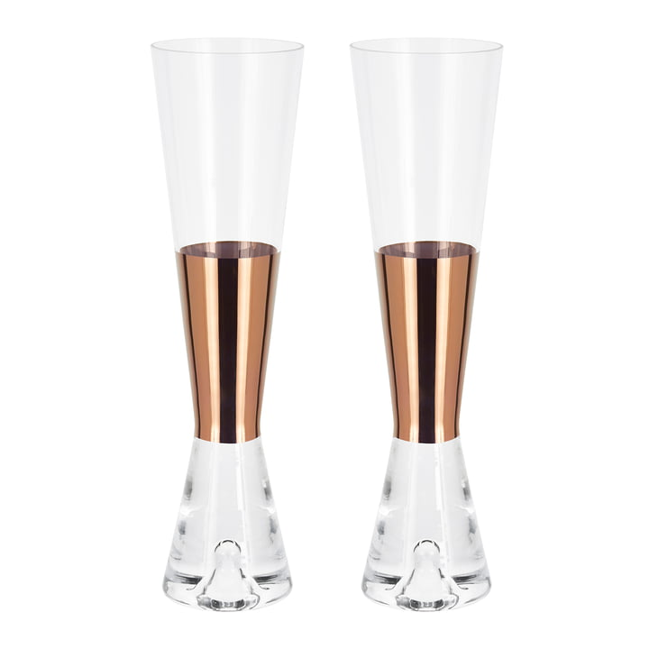 Set of 2 Tank Champagne Glass by Tom Dixon
