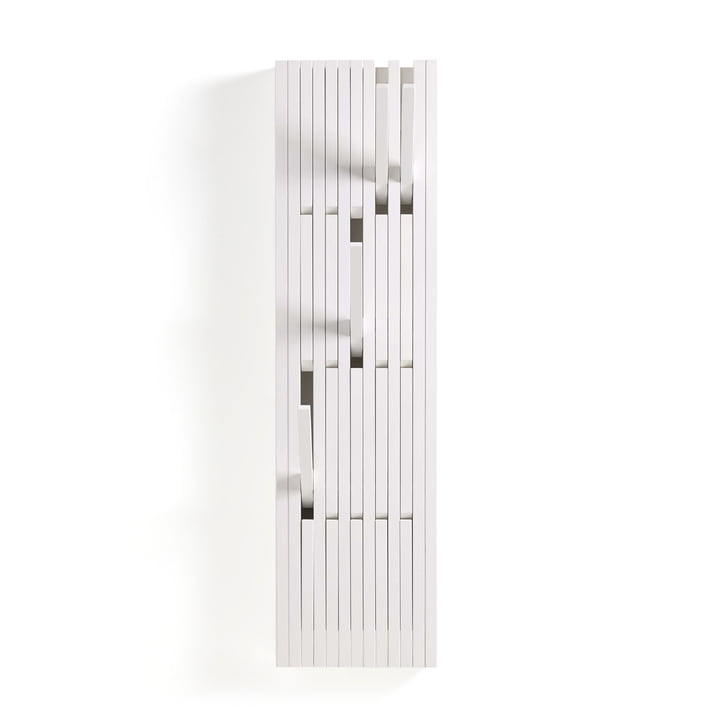 The Piano Hanger in varnished beech white (RAL 9010) in small by Peruse