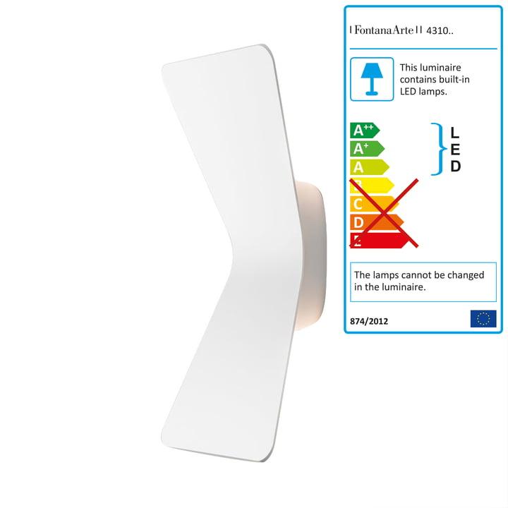 Flex LED wall lamp by FontanaArte in white
