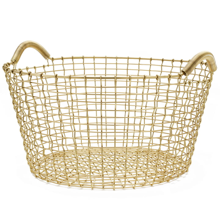 Classic 35 wire basket by Korbo made of brass