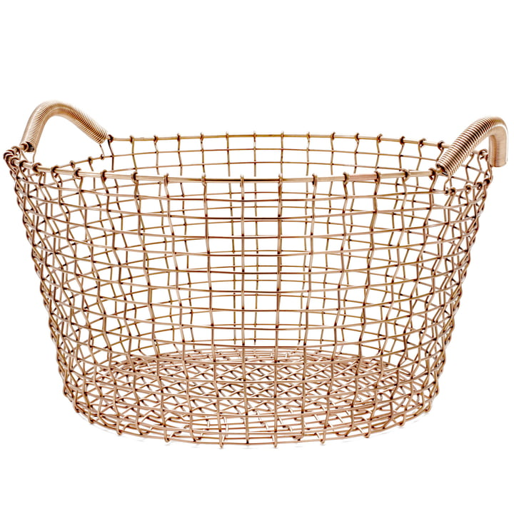 Classic 35 wire basket by Korbo made from copper