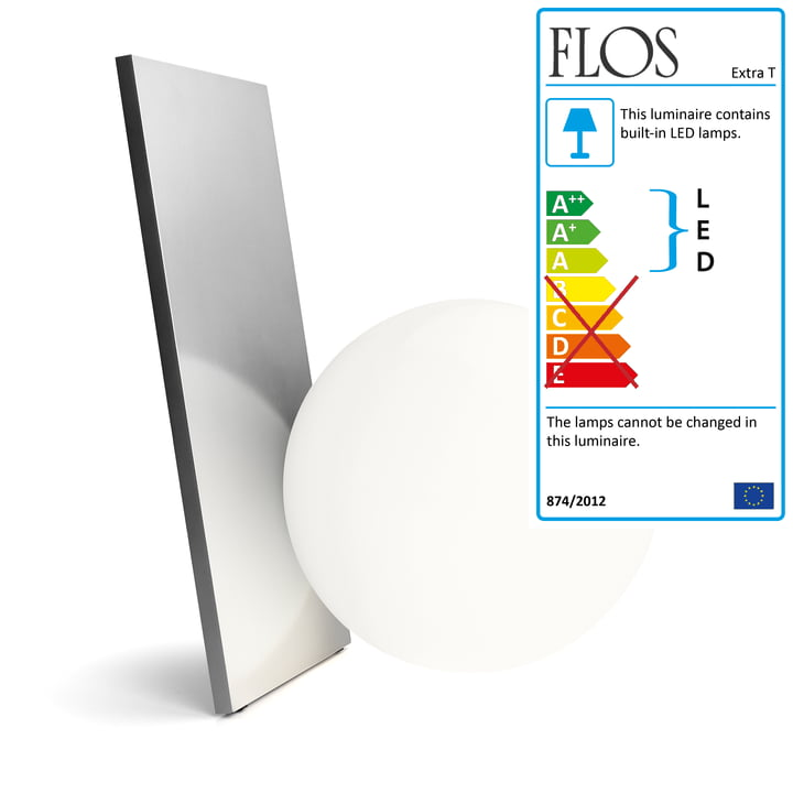 The Extra T Table Lamp by Flos in silver